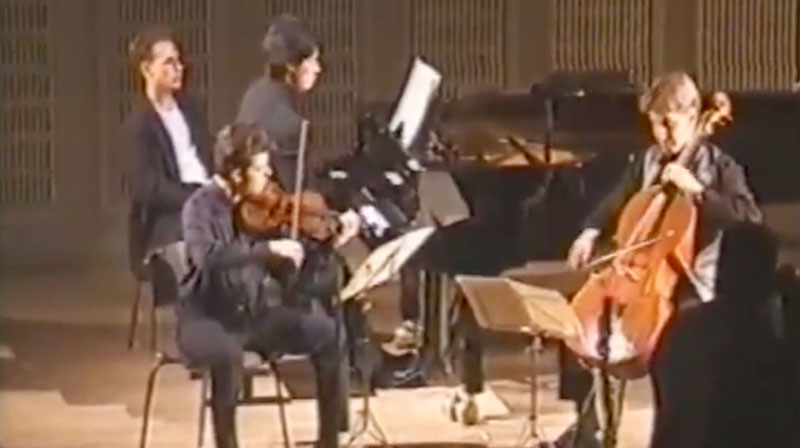 Mendelssohn Trio with Joo, Rachlin and Carroll (op.49 d minor Mvmt.I)